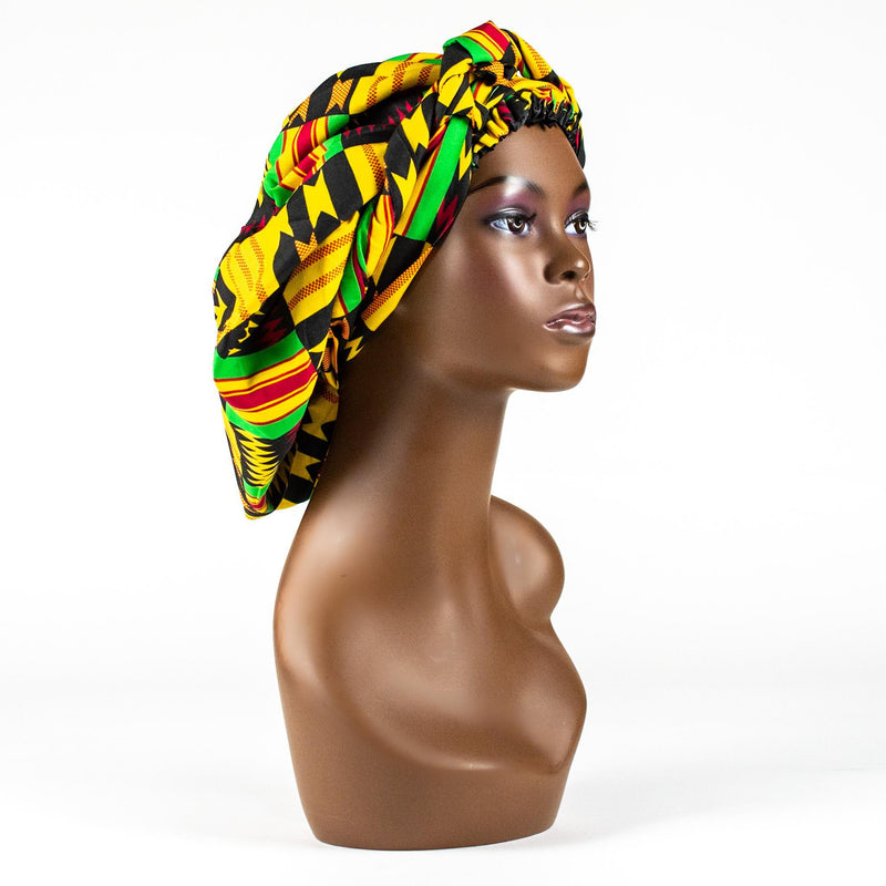 Silk Lined Kente Bonnets