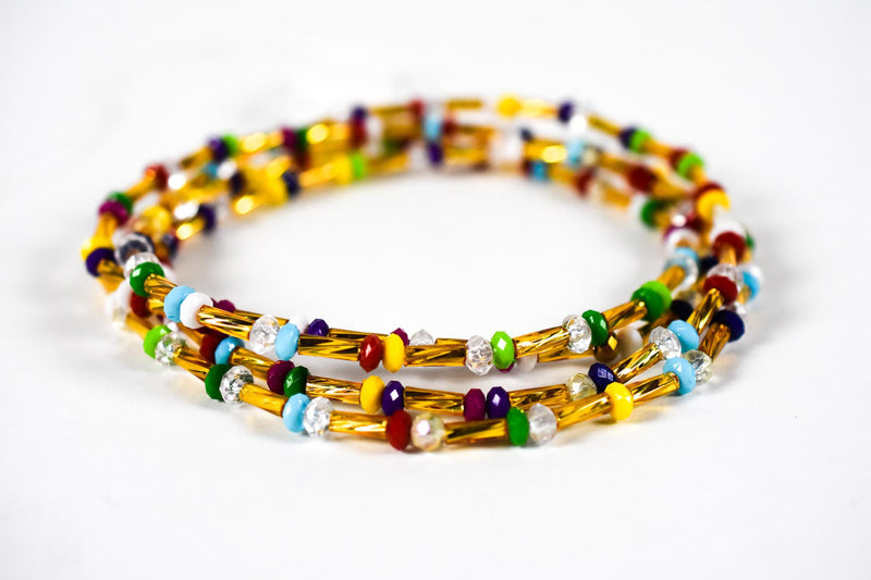Multicolored Elastic Waist Beads