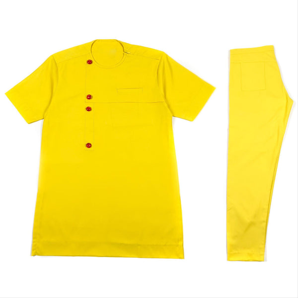 Yellow Short Sleeve Set