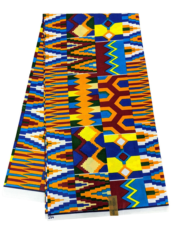 Kente Multicolored Print Wax
