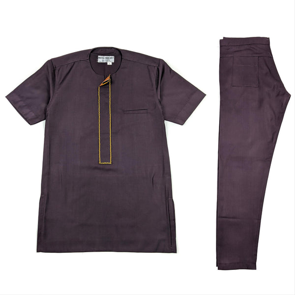 Dark Purple Short Sleeve Set