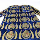 Blue Long Sleeve Traditional Nigerian Isiagu