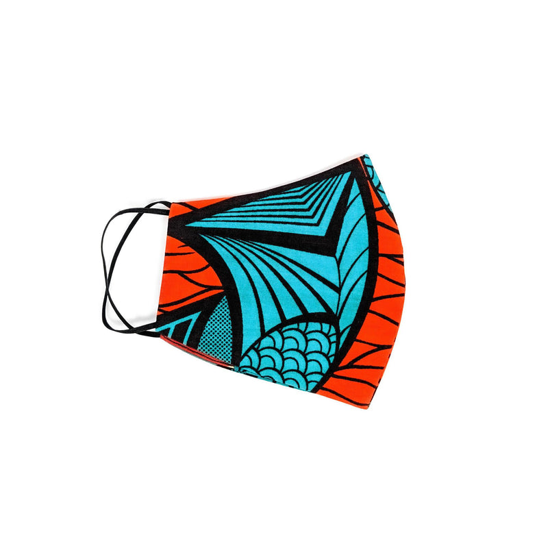 Ankara Face Mask with Disposal Filters