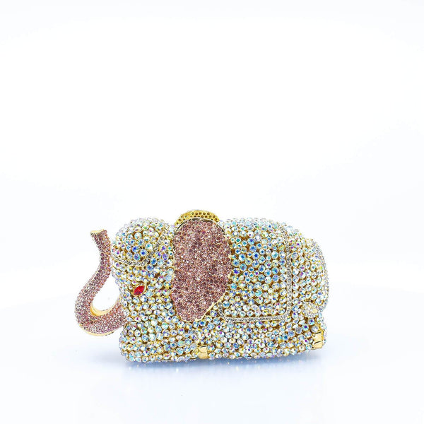 Elephant Crystal Clutch Purse - AFRIKAN ATTIRE - #african_clothing -