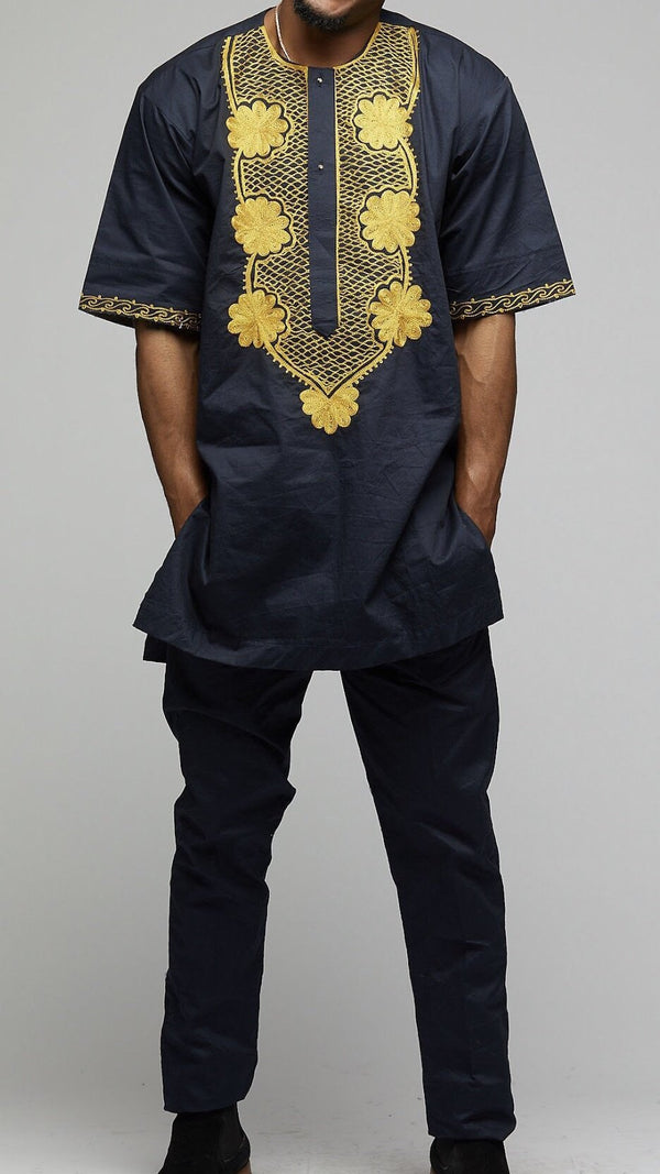 Embroidered Top w/Bottoms - AFRIKAN ATTIRE - #african_clothing -