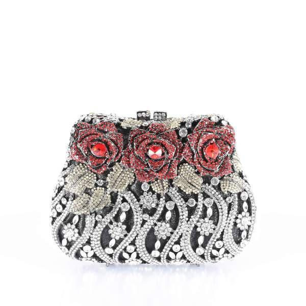 Evening CLUTCH Rhinestone - AFRIKAN ATTIRE - #african_clothing -