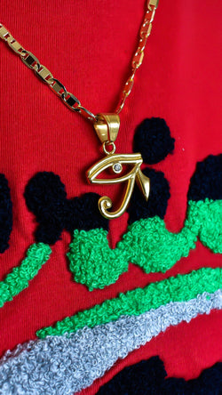 Eye of Horus Necklace - AFRIKAN ATTIRE - #african_clothing - JEWELRY