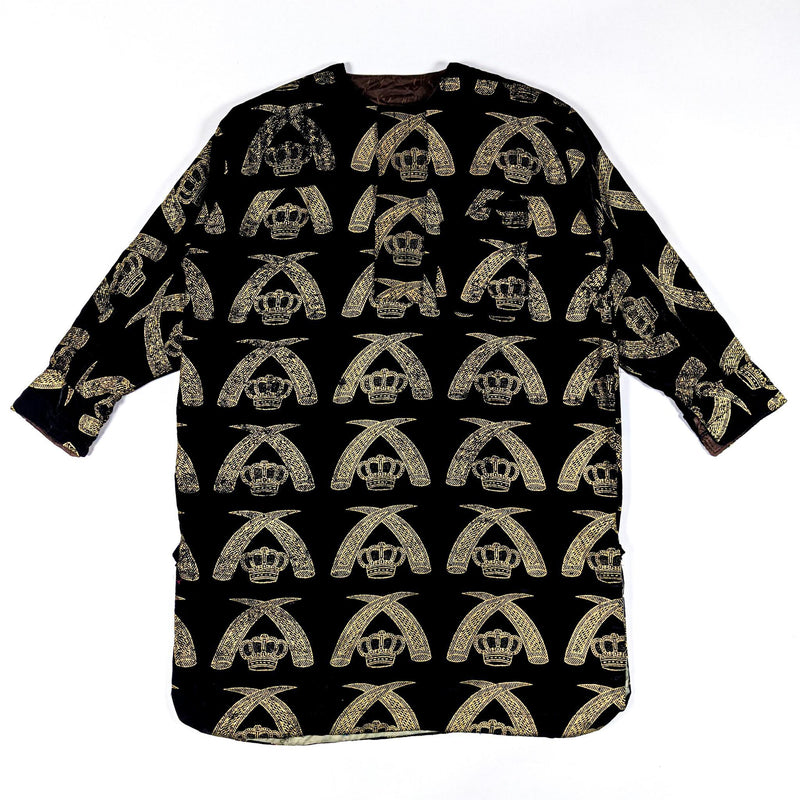 Black Long Sleeve Traditional Nigerian Isiagu