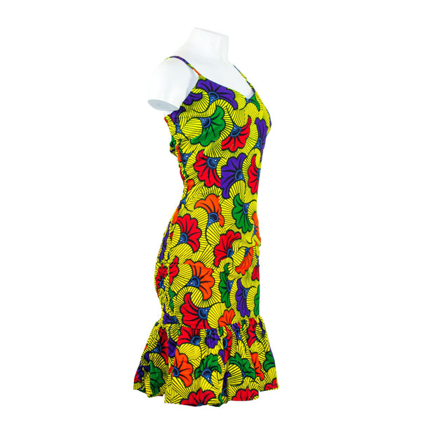 Ankara Spaghetti Strap Dress