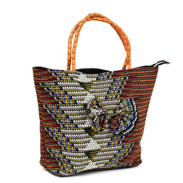 Brown Ankara Bag