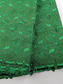 Green Cotton Net Lace