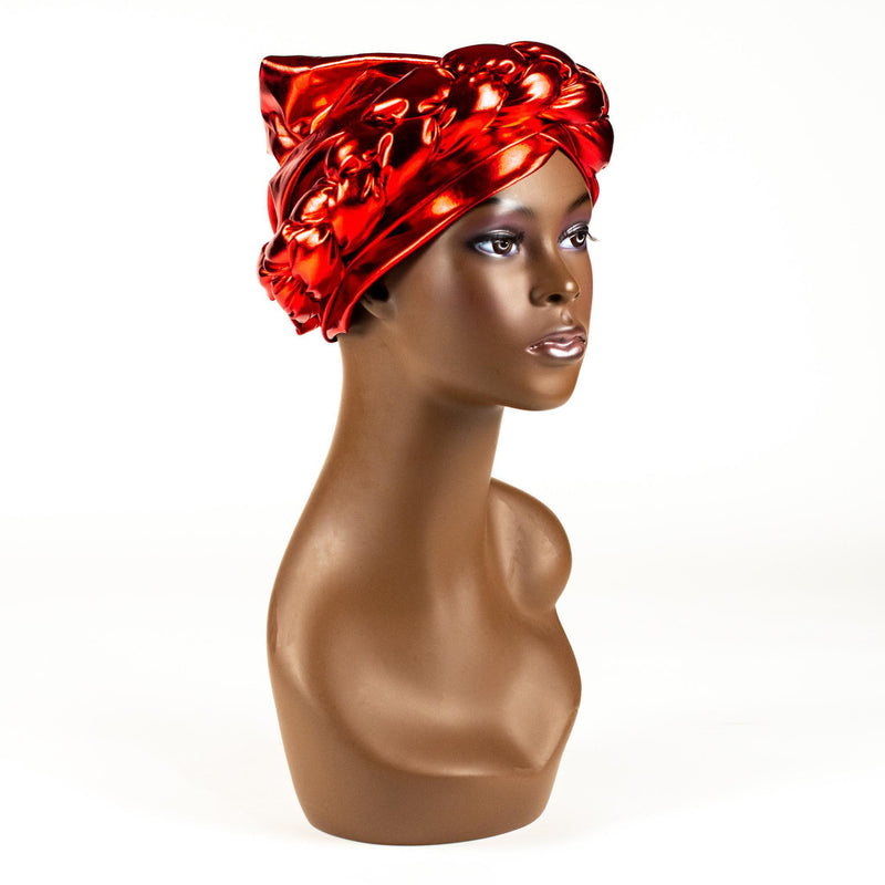 Red Braided Turban