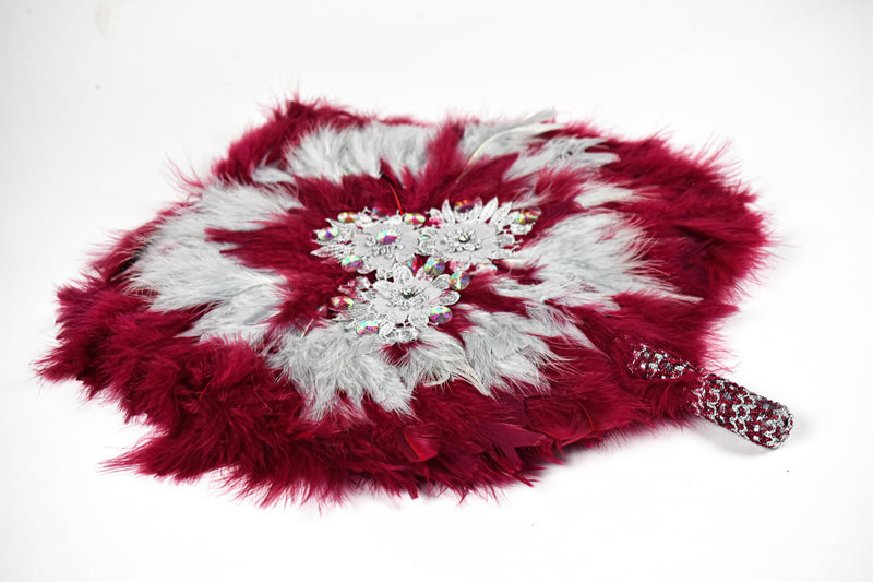 Wine Traditional Wedding Hand Fan
