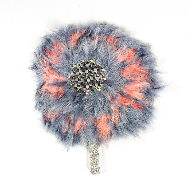 Grey & Pink Traditional Wedding Hand Fan