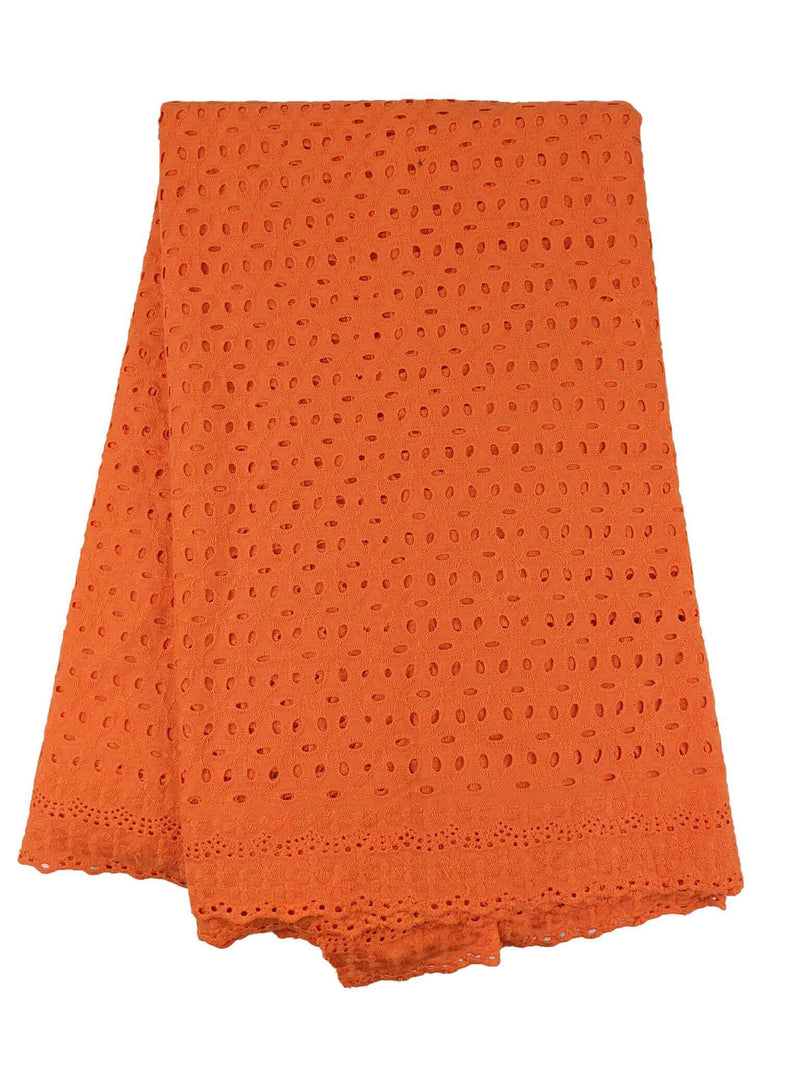 Orange Cotton Dry Lace