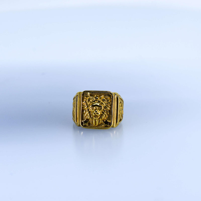 Men's Lion Asscher Ring