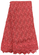 Red Heavy Guipure Lace