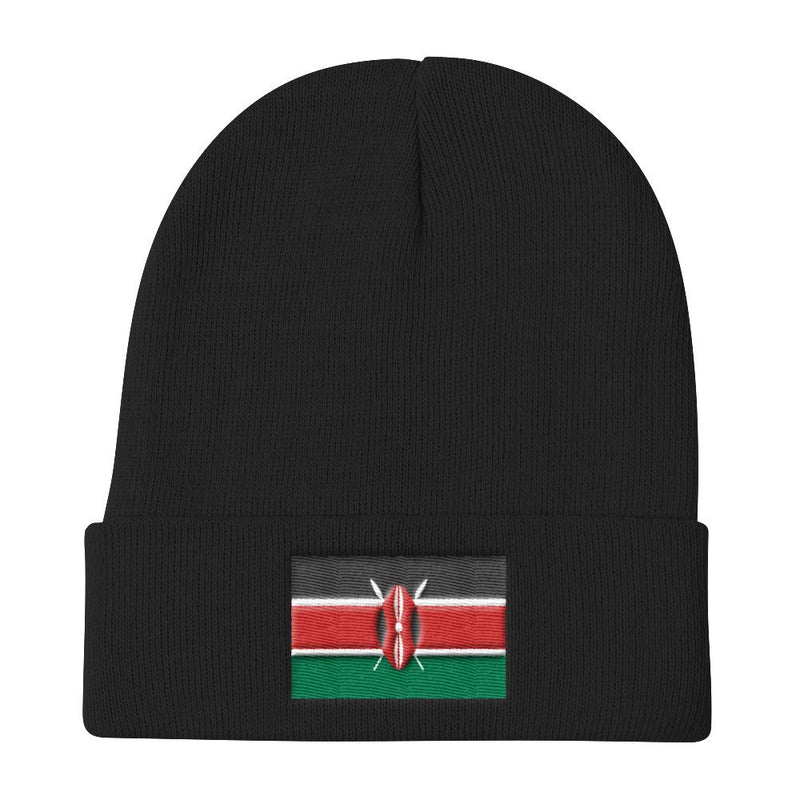 Flag of Kenya Knit Beanie - AFRIKAN ATTIRE -