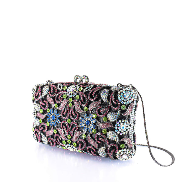 Floral Gem Clutch Purse - AFRIKAN ATTIRE - #african_clothing -