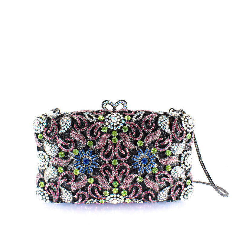 Floral Gem Clutch Purse - AFRIKAN ATTIRE -