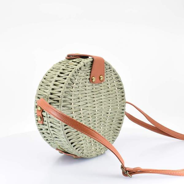 Full Moon Woven Straw Crossbody Bag - AFRIKAN ATTIRE - african_clothing - - african_attireAFRIKAN ATTIRE - african_fashion