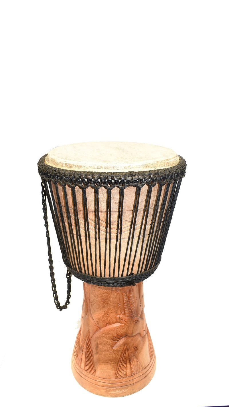 Ghanaian Djembe Drum - Medium - AFRIKAN ATTIRE -