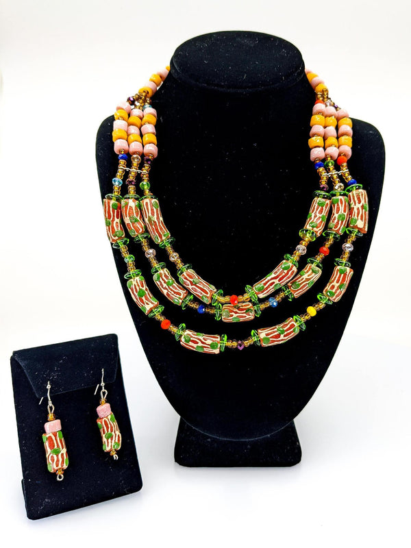 Ghanaian Recycled Glass Set - AFRIKAN ATTIRE - african_clothing - - african_attireAFRIKAN ATTIRE - african_fashion