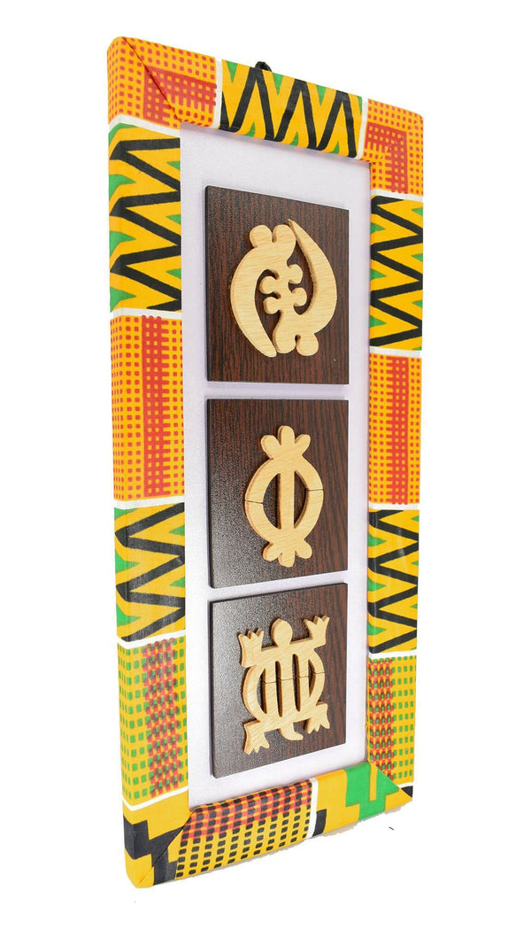 Ghanaian Symbolic Carvings - AFRIKAN ATTIRE - #african_clothing - WALL DECOR