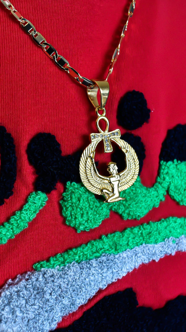 Goddess Isis Necklace - AFRIKAN ATTIRE - #african_clothing - JEWELRY