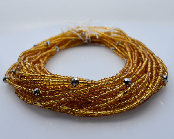 Gold African Waist Beads - AFRIKAN ATTIRE - african_clothing - - african_attireAFRIKAN ATTIRE - african_fashion