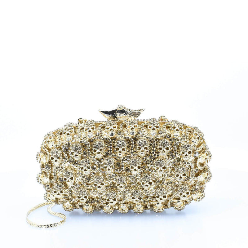 Gold Detailed Agbọn Clutch Purse - AFRIKAN ATTIRE -