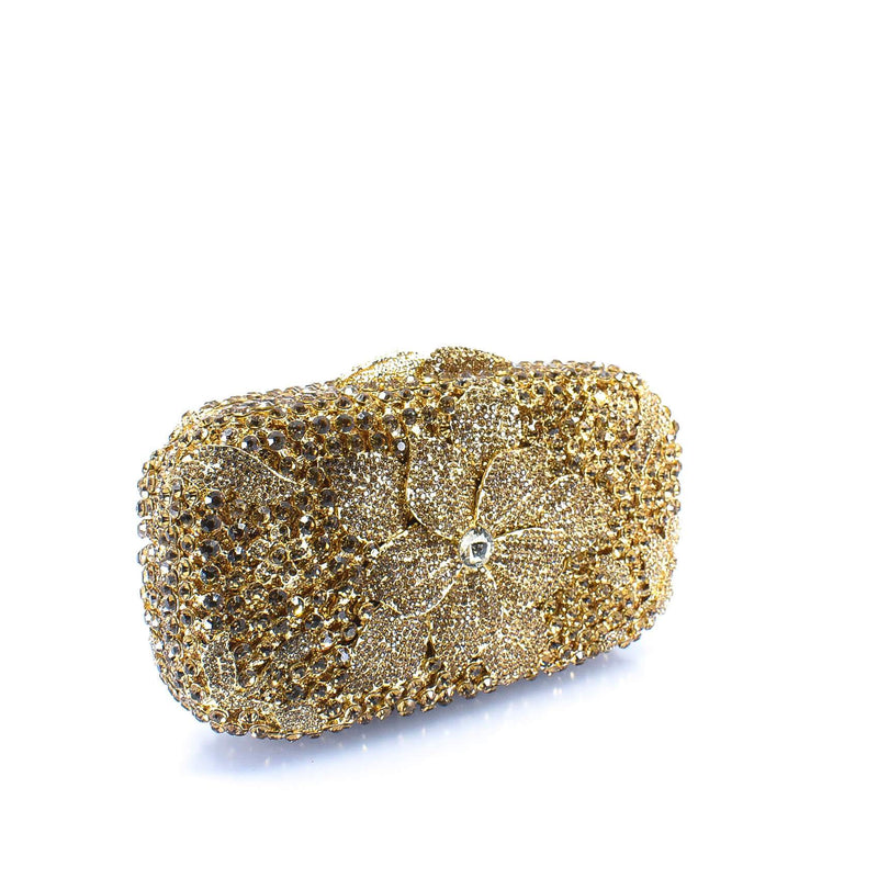 Gold Flower Clutch Purse - AFRIKAN ATTIRE -
