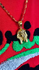 Gold Pharaoh Necklace - AFRIKAN ATTIRE -