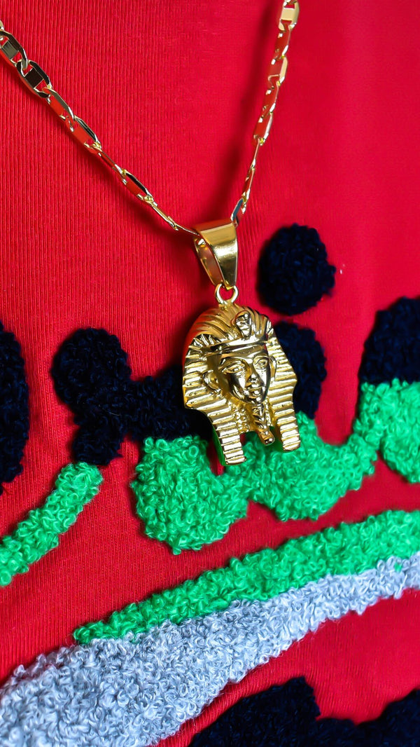 Gold Pharaoh Necklace - AFRIKAN ATTIRE - #african_clothing - JEWELRY