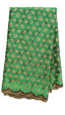 Green Floral Lace - AFRIKAN ATTIRE -