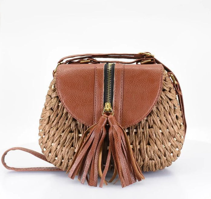 Island Crossbody Bag with Tassel - AFRIKAN ATTIRE -