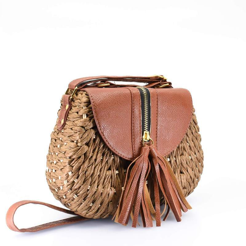 Island Crossbody Bag with Tassel - AFRIKAN ATTIRE - african_clothing - - african_attireAFRIKAN ATTIRE - african_fashion