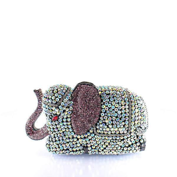 Jeweled Elephant Clutch Purse - AFRIKAN ATTIRE - #african_clothing -