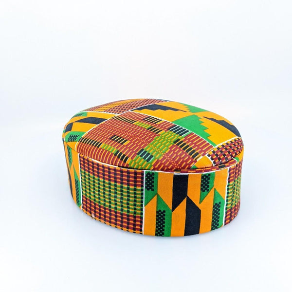 Kente Awolowo Cap - AFRIKAN ATTIRE - african_clothing - - african_attireAFRIKAN ATTIRE - african_fashion