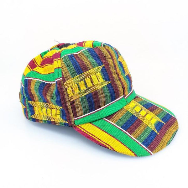 Kente Baseball Cap - AFRIKAN ATTIRE - african_clothing - - african_attireAFRIKAN ATTIRE - african_fashion