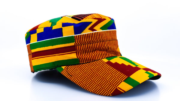 Kente Cap - AFRIKAN ATTIRE - african_clothing - Hat - african_attireAFRIKAN ATTIRE - african_fashion