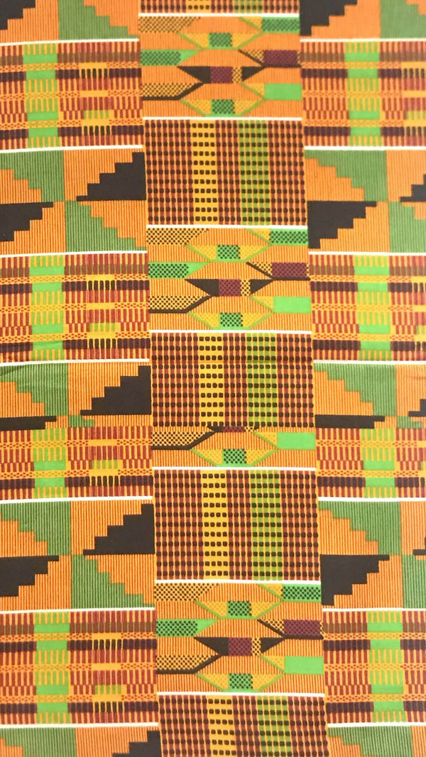 Kente Wax Fabric - AFRIKAN ATTIRE - #african_clothing -