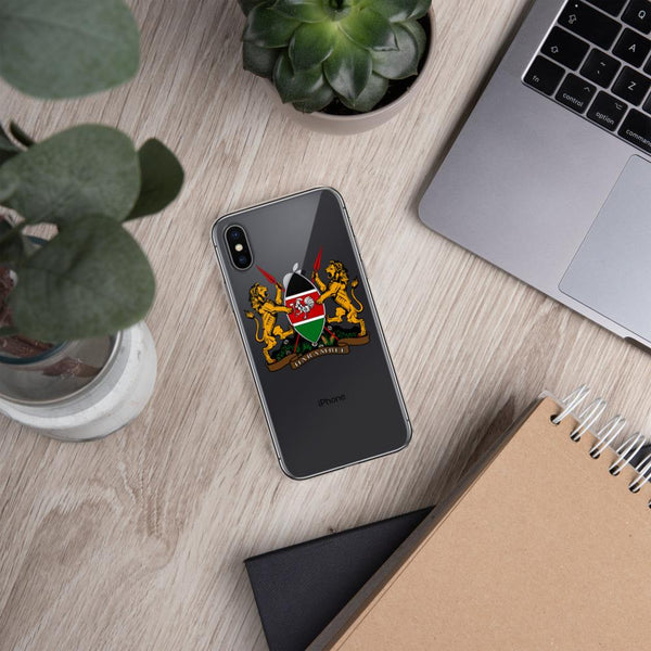 Kenyan Coat of Arms iPhone Case - AFRIKAN ATTIRE - #african_clothing - PHONE CASE