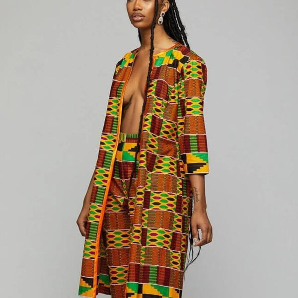 $$Kimono w/Pants - AFRIKAN ATTIRE - african_clothing - Apparel - african_attireAFRIKAN ATTIRE - african_fashion
