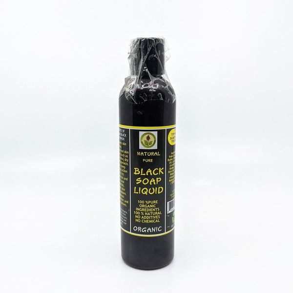 Natural Pure Black Liquid Soap - AFRIKAN ATTIRE - african_clothing - - african_attireAFRIKAN ATTIRE - african_fashion