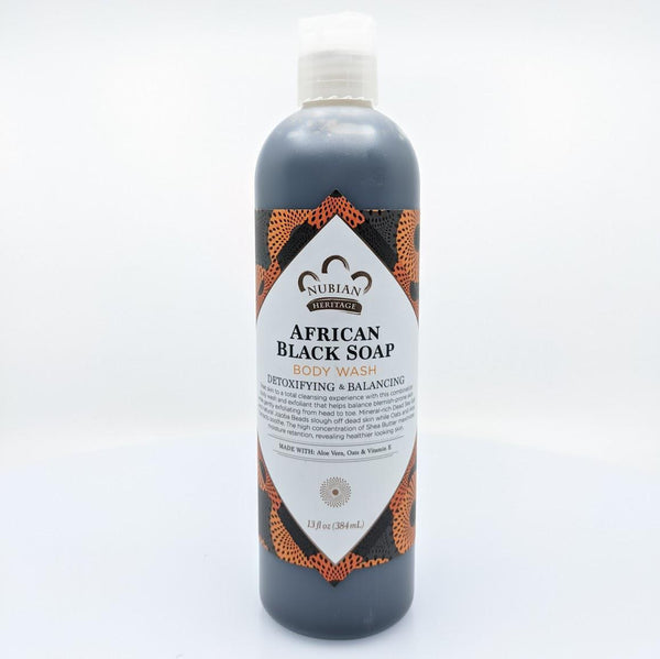 Nubian African Black Body Wash 13oz - AFRIKAN ATTIRE - african_clothing - - african_attireAFRIKAN ATTIRE - african_fashion