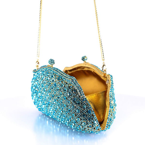 Ocean Blue Clutch Purse - AFRIKAN ATTIRE - #african_clothing -