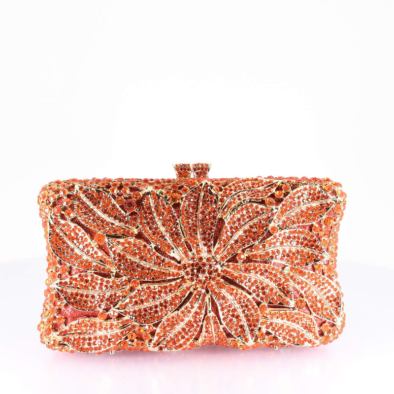 Orange Floral Clutch Purse - AFRIKAN ATTIRE -