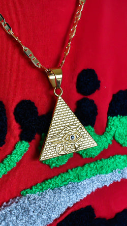 Pyramid x Eye of Horus Necklace - AFRIKAN ATTIRE - #african_clothing - JEWELRY