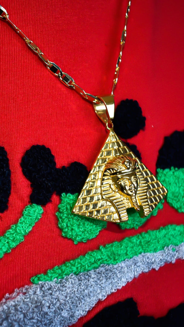 Pyramid x Pharaoh Necklace - AFRIKAN ATTIRE - #african_clothing - JEWELRY